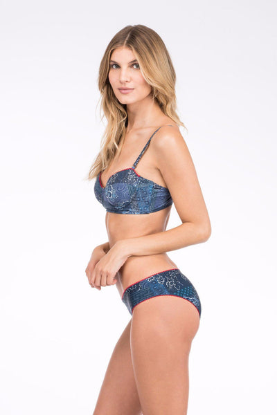 Lagoon Top - Floral Patchwork
