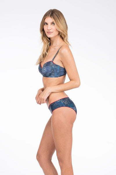 Baja Reversible Bottom - Floral Patchwork/Navy