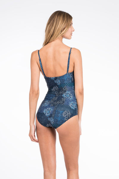 Catalina One Piece - Floral Patchwork