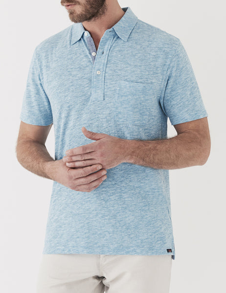 Spring Heather Polo - New Blue