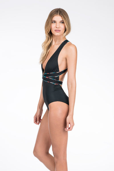 Santorini One Piece - Black Serape