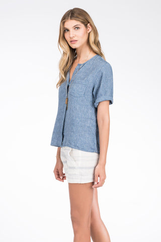 SS Laguna Shirt - Light Chambray
