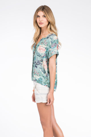 SS Laguna Shirt - Palm Bay Print