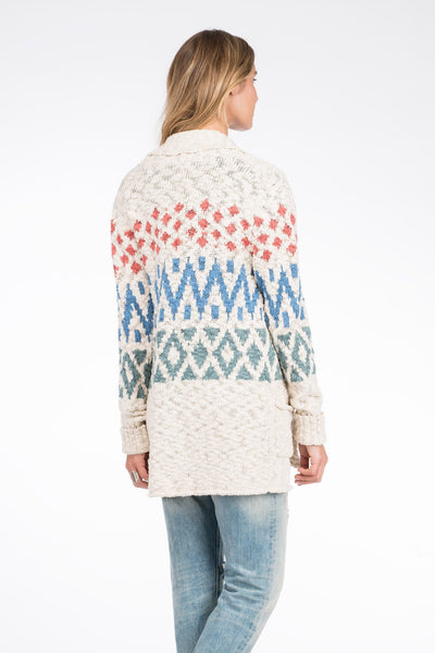 Fairisle Cardigan - Sunset Fields