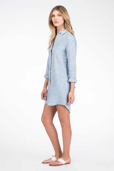 Portland Shirtdress - Blue