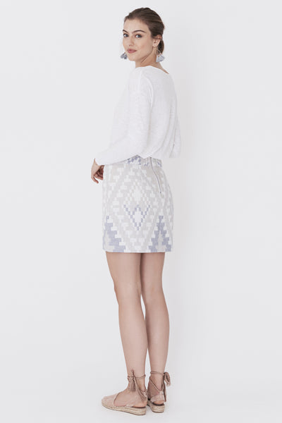 Antibes Skirt - Diamond Aztec