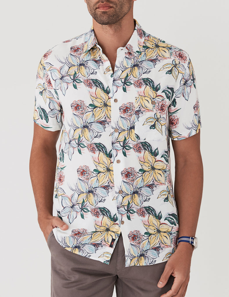 Rayon Hawaiian Shirt - Tropical Dreams Hawaiian