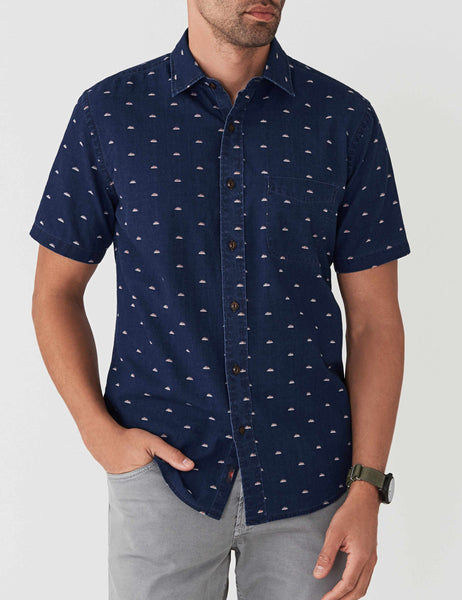 Short-Sleeve Coast Shirt - Sunrise Indigo Print