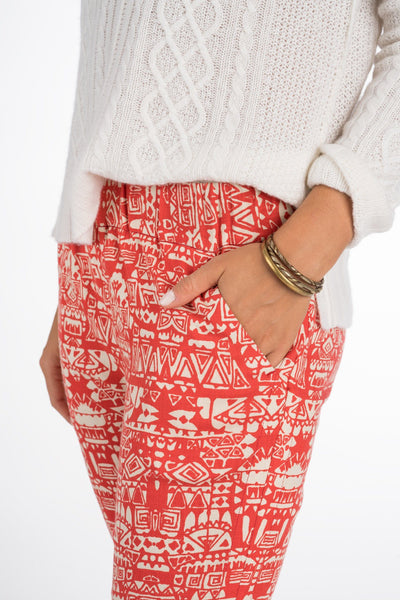 Hili Soft Pant - Tribal Print