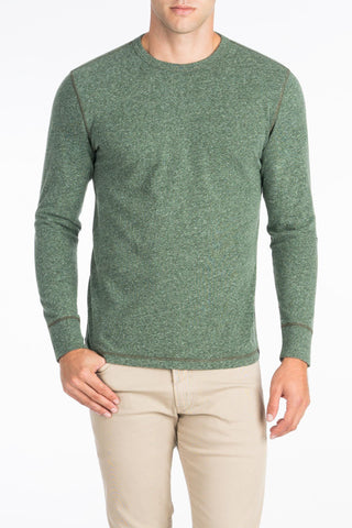 Long-Sleeve Heather Tee - Hunter Green
