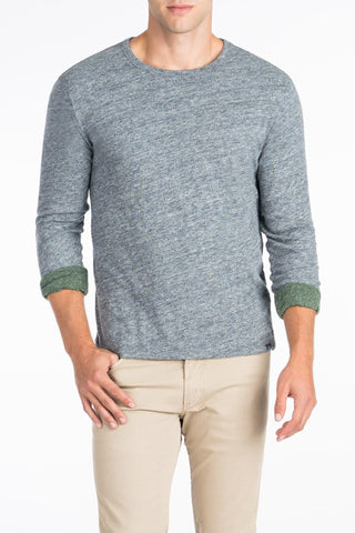 Long-Sleeve Heather Reversible Tee - Charcoal/Hunter Green