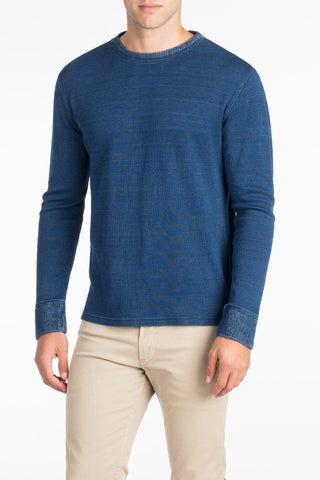 Thermal Crewneck  - Dark Wash Indigo