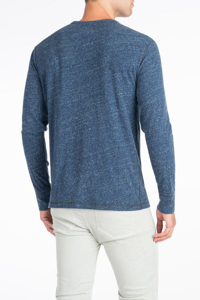 Long-Sleeve Heather Tee - Navy