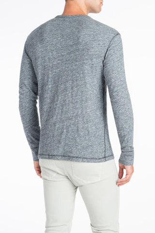 Long-Sleeve Heather Tee - Charcoal Grey