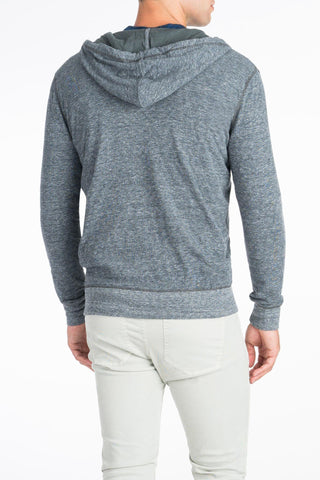 Dual Knit Zip-Up Hoodie - Charcoal Grey