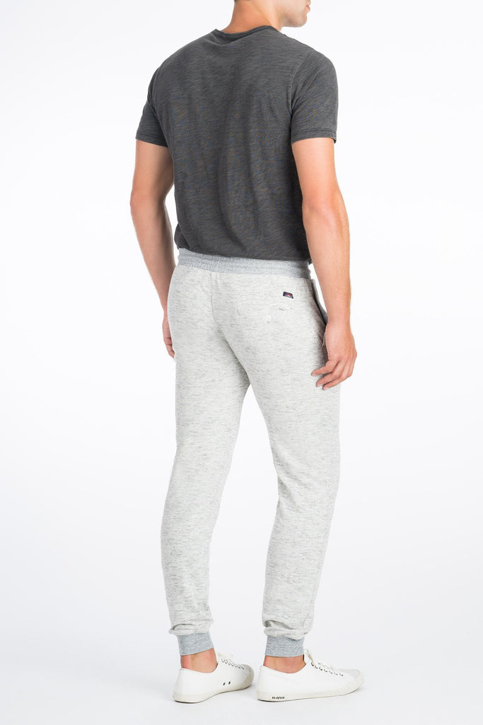Heather Dual Knit Sweatpant - Light Grey