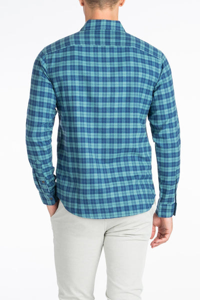 Ultra Fine Newport Check Shirt - Coastline Check