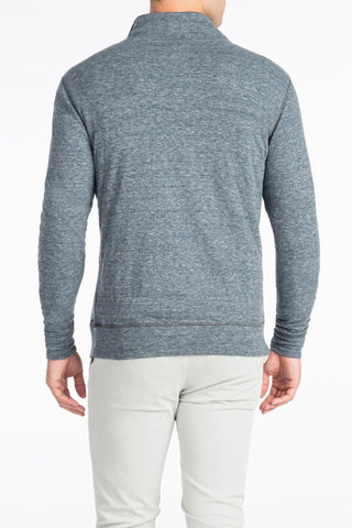 Heather Dual Knit Pullover - Charcoal Grey