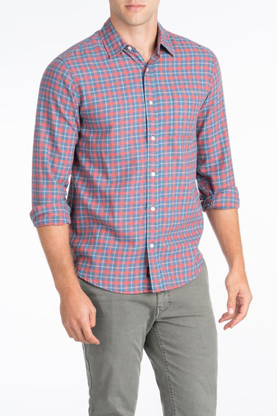 Ultra Fine Newport Check Shirt - Blue Sierra Check