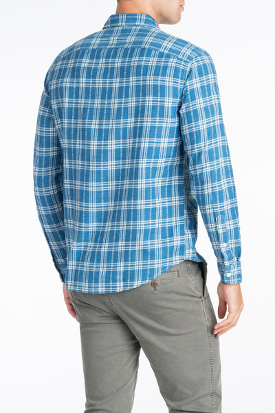 Signature Washed Twill Shirt - Blue Arrow Plaid