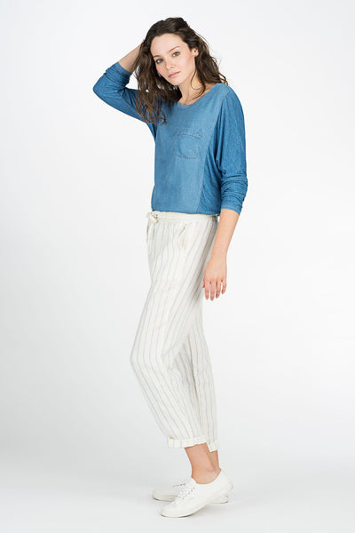 Carolina Beach Pant - Linen Stripe