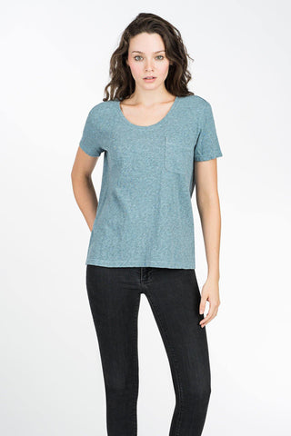 Blakely Pocket Tee - Ocean Blue