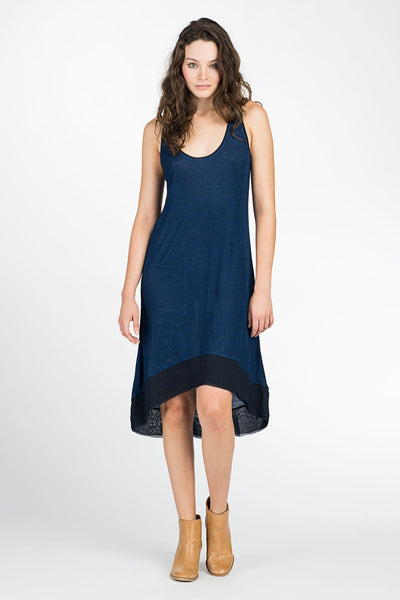 Breezy Nights Dress - Dark Wash Indigo
