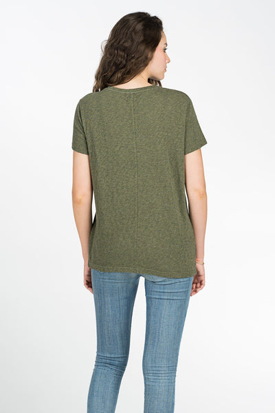 Blakely Pocket Tee - Olive Green