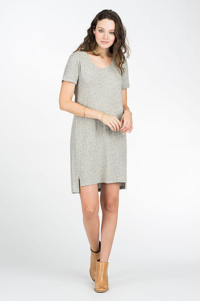 Britta T-Shirt Dress - Heather Grey