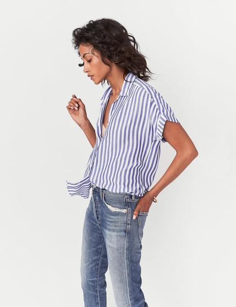 Avery Shirt - Blue & White