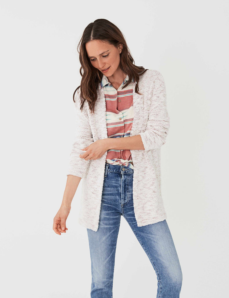 Briarcliff Cardigan - White/Flame