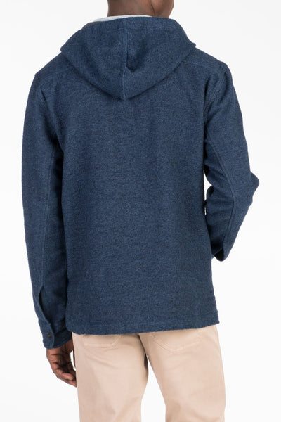Pacific Poncho - Indigo Heather