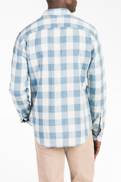 Doublecloth Shirt - Light Blue Buffalo Check