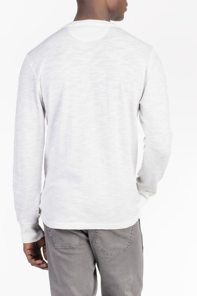 Slub Cotton Henley - White