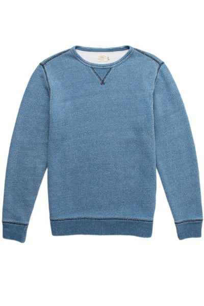 Birdseye Crewneck Sweater - Medium Wash Indigo