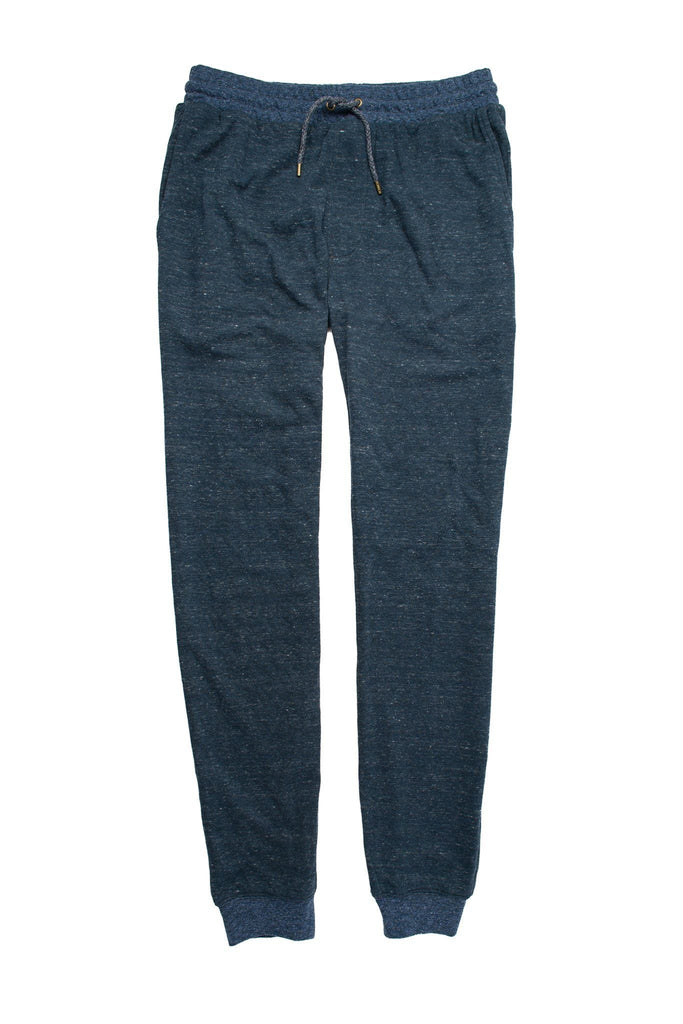 Heather Dual Knit Sweatpant - Navy