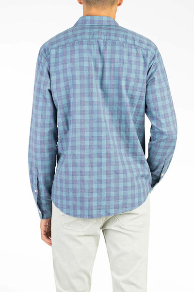 Ultra Fine Newport Check Shirt - Deep Ocean Tartan