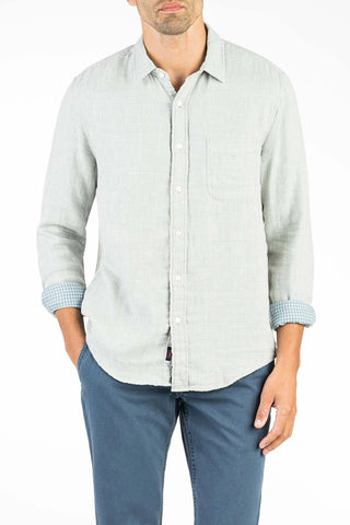 Doublecloth Shirt  - Grey & Blue Gingham