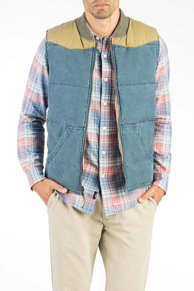 Western Vest - Faded Navy/Khaki