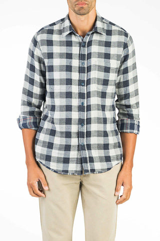 Reversible Belmar Workshirt  - Grey Plaid/Buffalo Check