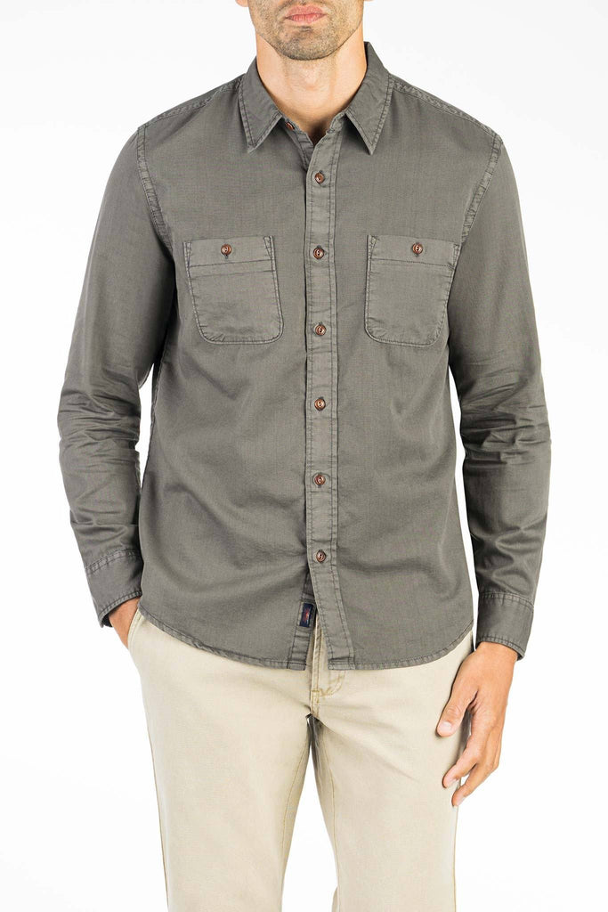 Washed Chino Shirt - Charcoal