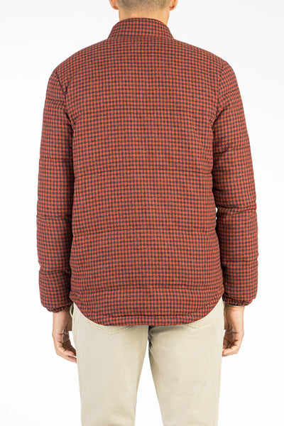 Wool Mt. Vista Down Jacket - Red Check