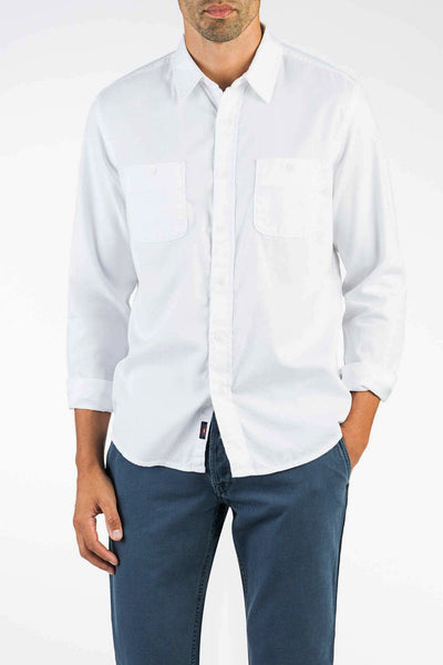 Washed Chino Shirt - White