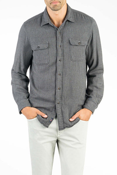 Doublecloth Shirt - Grey Twill & Chambray