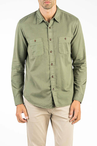 Washed Chino Shirt - Pine