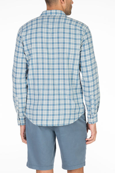 Doublecloth Shirt - Indigo Plaid/Gingham