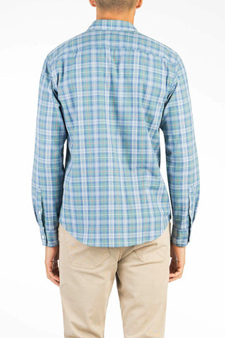 Ultra Fine Newport Check Shirt - Sea Mist Plaid