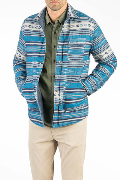 Reversible Bondi Jacket - Chambray/Indigo Arrow Stripe