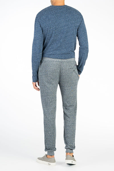 Heather Dual Knit Sweatpant - Charcoal Grey