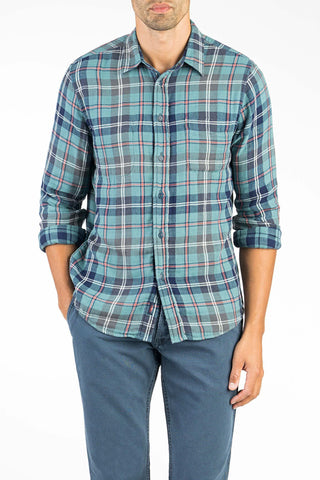Reversible Belmar Workshirt  - Teal Plaid/Check